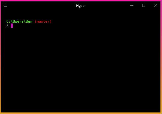 Hyper with Cmder terminal running on Windows